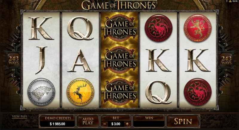 Game of Thrones Microgaming