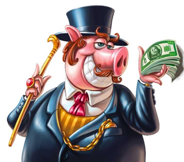 Gentlemen Pig Piggy Riches Megaways