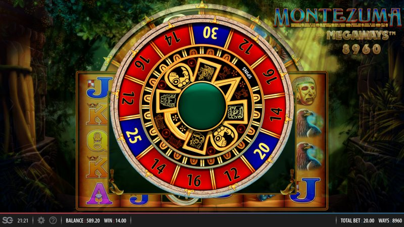 Montezuma Megaways Wheel